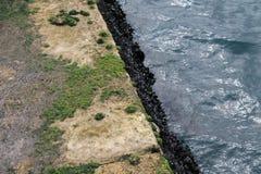 Land och vatten Arkivfoto