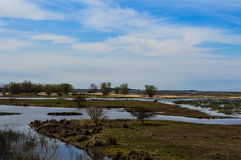 Land och vatten Royaltyfri Foto