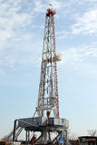 Land oil drilling rig Stock Photos