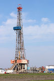 Land oil drilling rig with equipment Stock Photography