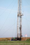 Land oil drilling rig Royalty Free Stock Images