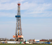 Land oil drilling rig Royalty Free Stock Photography
