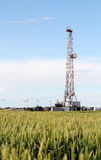 Land oil drilling rig industry Stock Image