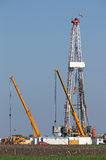 Land oil drilling rig Stock Photography