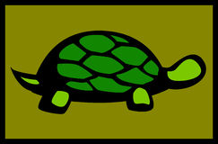 Land Or Sea Turtle Vector Illustration Stock Image