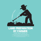 Land Preparation By Farmer Symbol. Royalty Free Stock Photo
