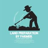 Land Preparation By Farmer Symbol. Land Preparation By Farmer Symbol Vector Illustration Royalty Free Stock Photo