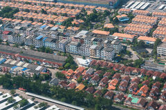 Land and property business from aerial view Stock Image