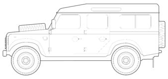 Land Rover 110 Stock Image