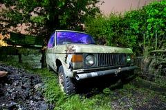 Land rover arrugginita Immagini Stock Libere da Diritti