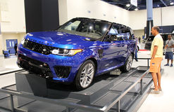 Land rover 2015. In auto show miami beach royalty free stock photography