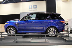 Land rover 2015. In auto show miami beach royalty free stock image