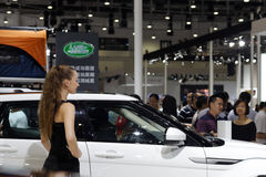 Land rover booth Stock Image