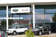 Land Rover dealership Stock Photo