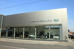 Land Rover dealership Stock Photography