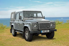 Land rover defender jeep Stock Photo