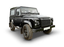 Land Rover Defender. Side profile of Land Rover Defender vehicle on white stock images