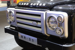 Land rover Defender suv front Stock Photography