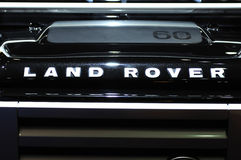 Land rover Defender suv logo Stock Photography