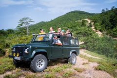 Land Rover Defender 110 suv Royalty Free Stock Images