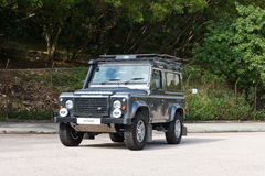 Land Rover Defender 2014 test drive Stock Images