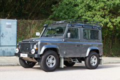 Land Rover Defender 2014 test drive Stock Photo