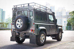 Land Rover Defender 2014 test drive Royalty Free Stock Images