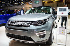 Land Rover Discovery car, Motor Show Geneve 2015. Stock Photo