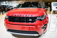 Land Rover Discovery car, Motor Show Geneve 2015. Royalty Free Stock Photography