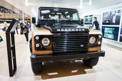 Land Rover Discovery Defender, Motor Show Geneva 2015. Royalty Free Stock Images