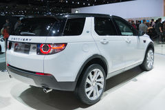 Land Rover Discovery 2015 on display Stock Photography