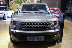 Land rover discovery suv front Royalty Free Stock Image