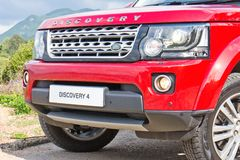 Land Rover Discovery 4 Test Drive on May 13 2014 in Hong Kong. Stock Image