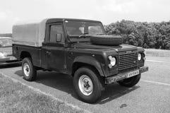 Land Rover 110 försvararediesel Arkivfoto