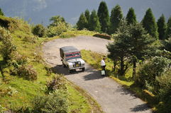 Land Rover In Mountain. Royalty Free Stock Photo