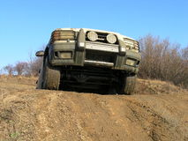 Land Rover offroad riding Royalty Free Stock Photo