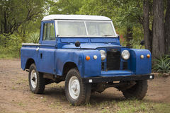 Land Rover old model 4WD vehicle. Zimbabwe. Hwange National Park. Stock Images