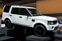 Land Rover på den motoriska showen för Genève Fotografering för Bildbyråer