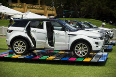 Land Rover - Range Rover Evoque. The Range Rover Evoque is a Compact crossover SUV from Land Rover which went into production in July 2011 Royalty Free Stock Photos