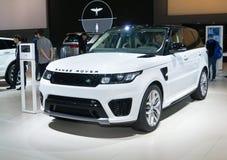 Land Rover Range Rover SVR Fotografering för Bildbyråer