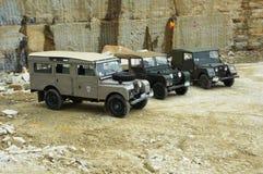 Land Rover serie Jeden w kamiennym łupie Fotografia Stock