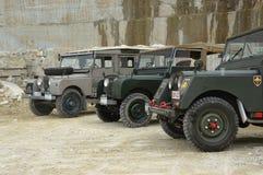Land Rover serie Jeden w kamiennym łupie Zdjęcia Stock