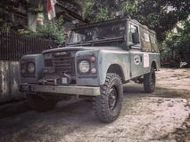 Land Rover Series III. Land Lover Long Chassis Military Series Stock Photos