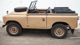 Land Rover Series III off-road car side view Stock Image