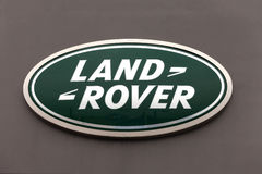 Land Rover sign on a dealership wall Stock Photos