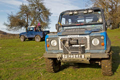 Land Rover trials Stock Images