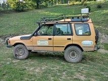 Land rover velha na versão da reunião Foto de Stock