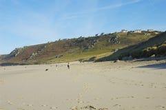 Land's end. Whitesand Bay close to Land's end, Cornwall, United Kingdom Royalty Free Stock Image