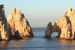 Land's End Arch and Rocks. Land's End, rock formation in Cabo San Lucas Mexico Stock Photos