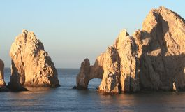 Land's End Arch and Slot. Land's End, rock formation in Cabo San Lucas Mexico Royalty Free Stock Photos